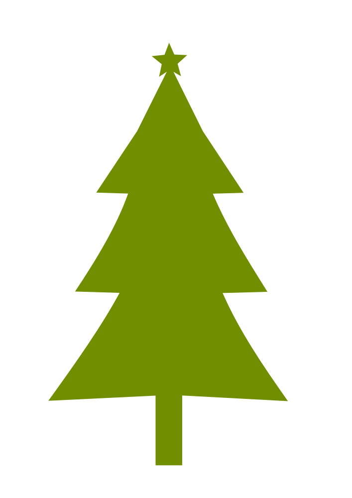 OnlineLabels Clip Art - Christmas Tree Silhouette