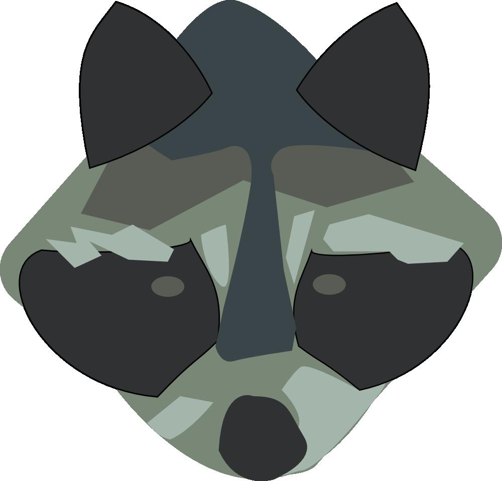 OnlineLabels Clip Art - Raccoon Raccoon Face Clip Art