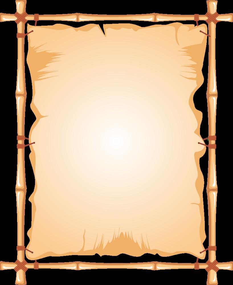 OnlineLabels Clip Art - Bamboo Frame