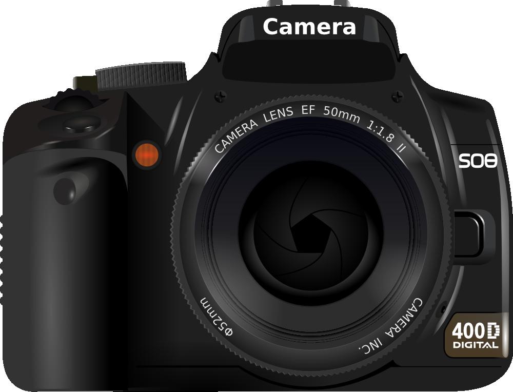 OnlineLabels Clip Art - DSLR Camera