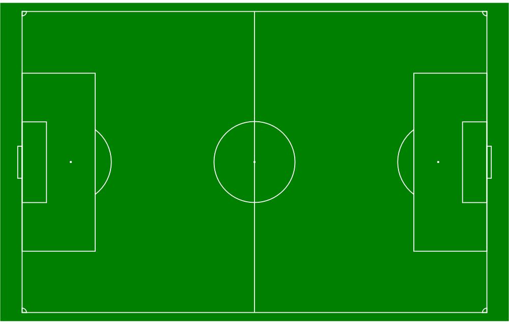 OnlineLabels Clip Art - Soccer Field