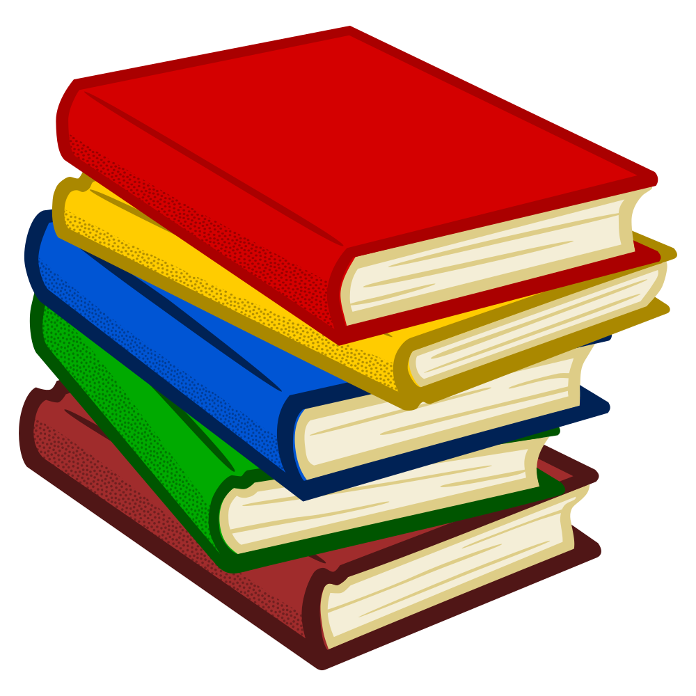 bookes clip coloured onlinelabels svg