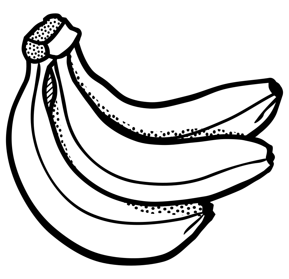 Banana Clip Art Black And White OnlineLabels Cl...