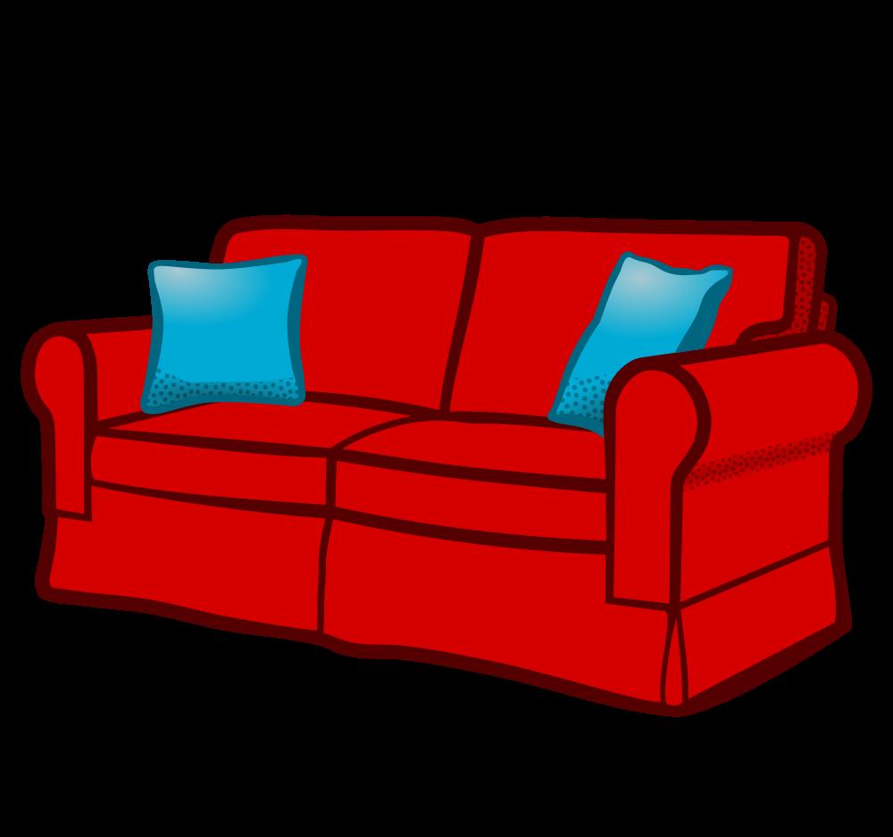 Onlinelabels clip art sofa coloured for Sofa clipart