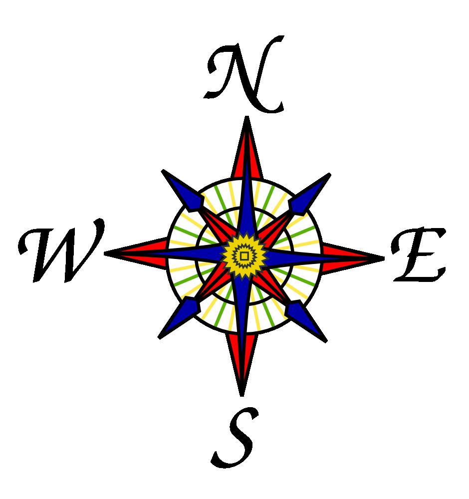 Onlinelabels Clip Art Compass Rose