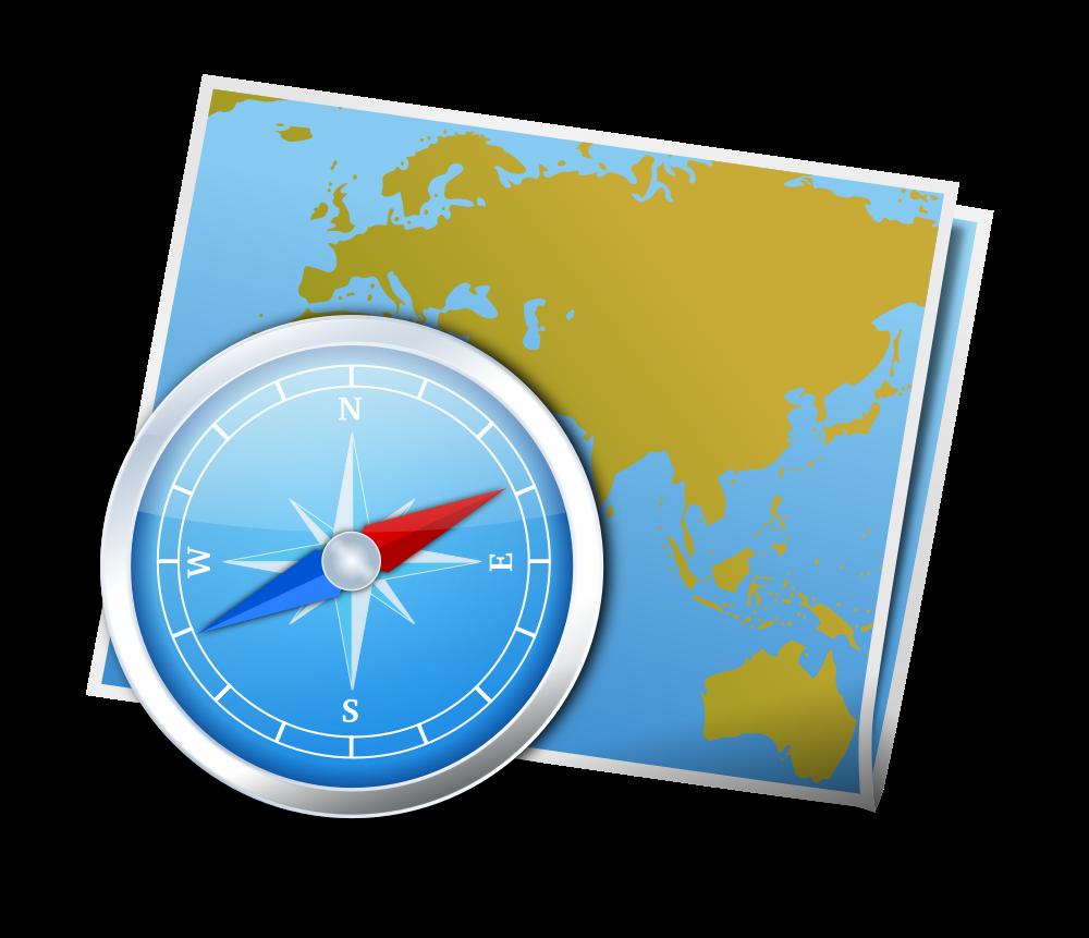 OnlineLabels Clip Art - Map And Compass