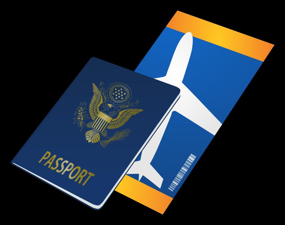 OnlineLabels Clip Art - Passport And Ticket