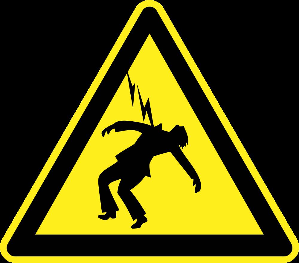 OnlineLabels Clip Art - Danger High Voltage Warning Sign