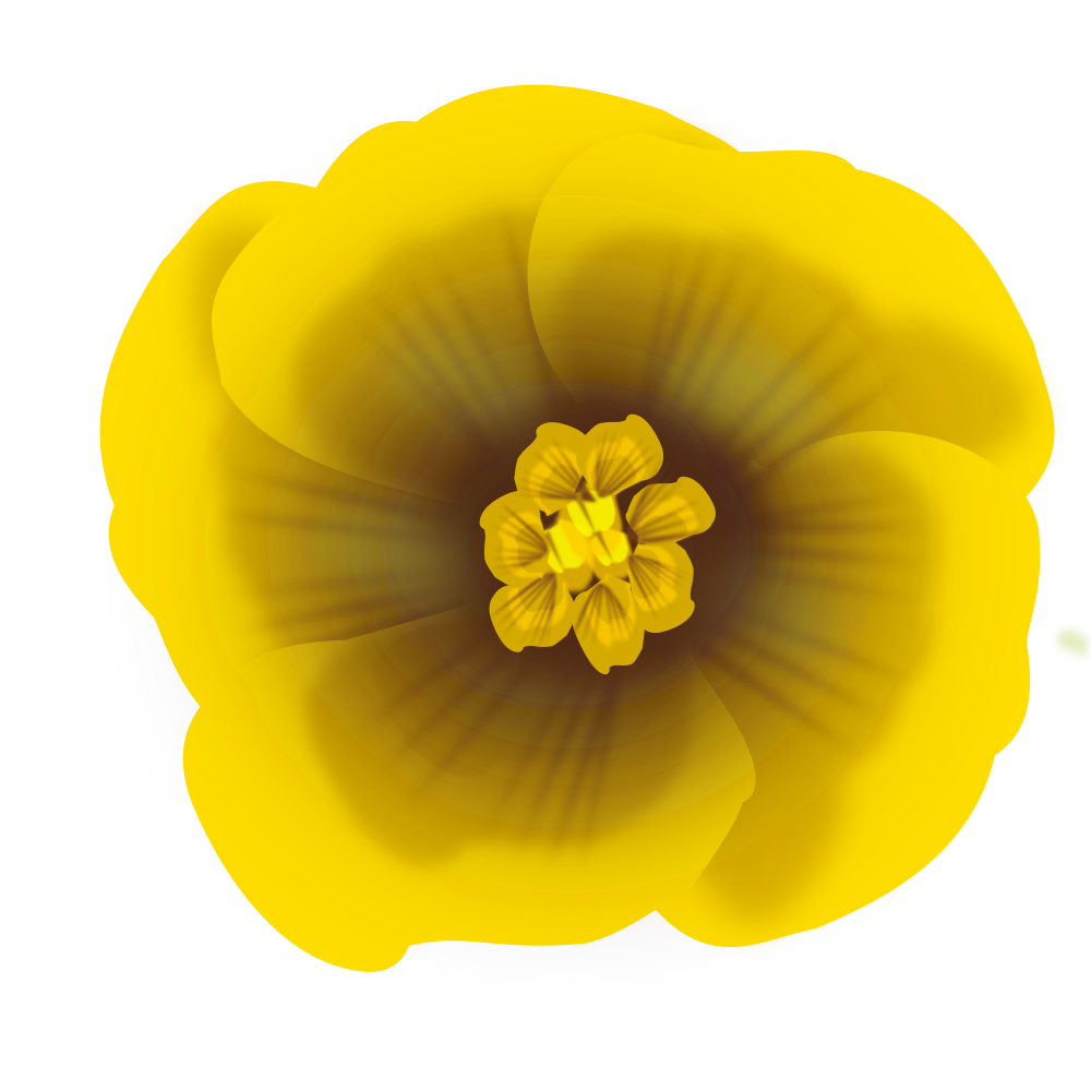 OnlineLabels Clip Art - Flower Yellow