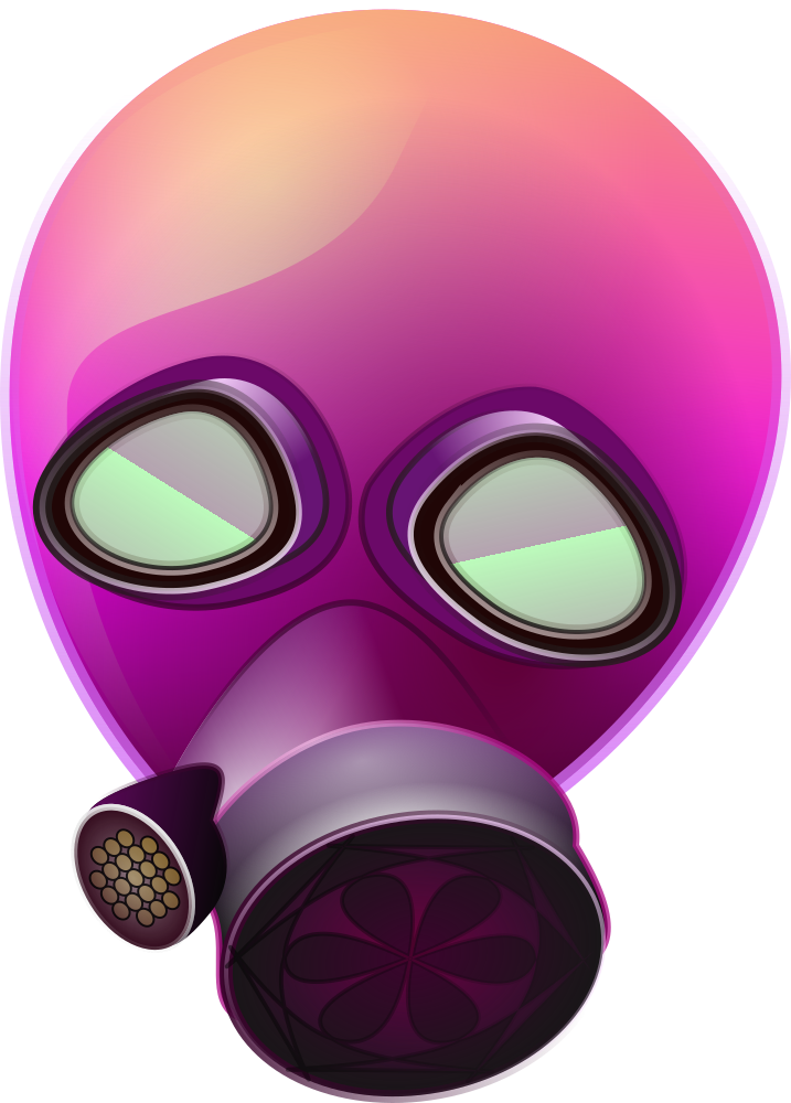 OnlineLabels Clip Art - Pink_Gas_Mask