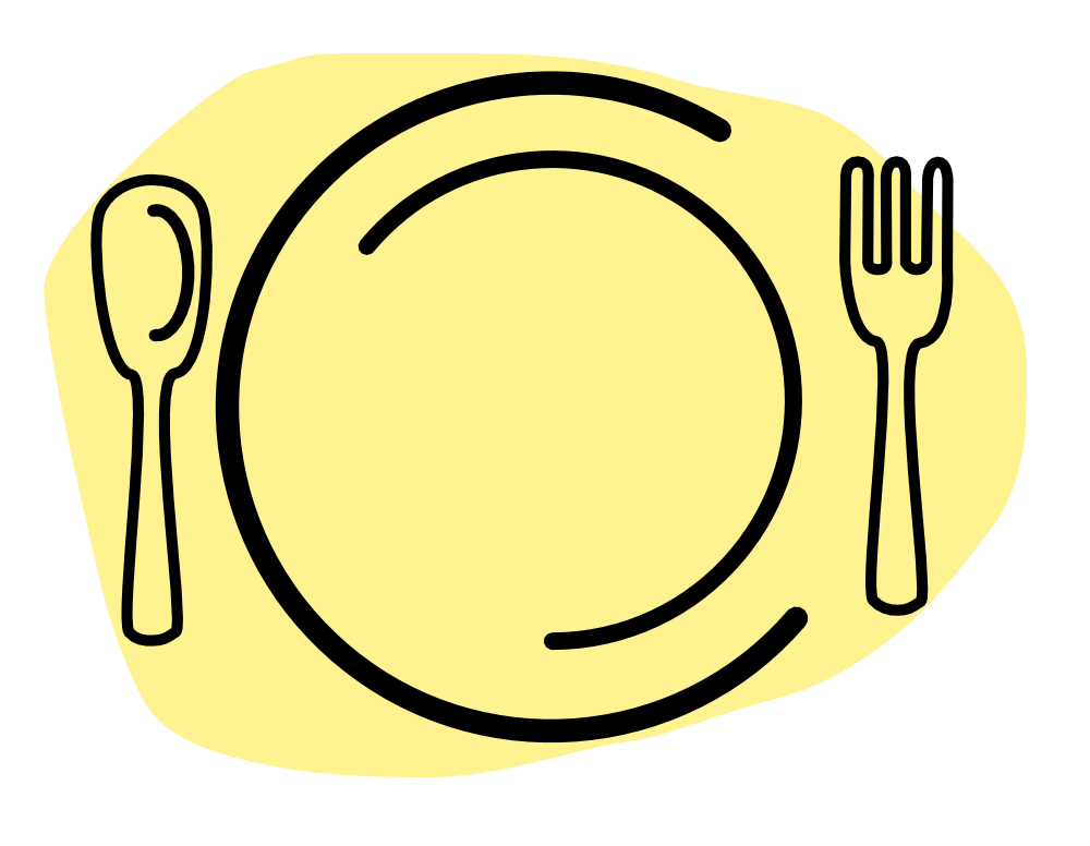 OnlineLabels Clip Art - Dinner Plate With Spoon And Fork