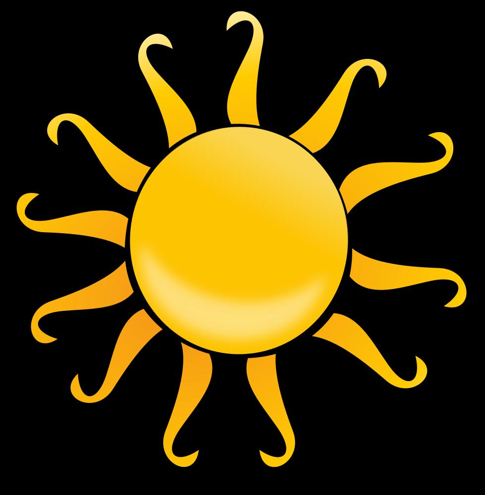 OnlineLabels Clip Art - Cartoon Sun