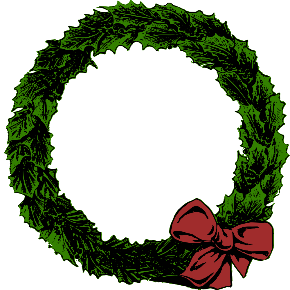Christmas wreath circle. Onlinelabels clip art xmas