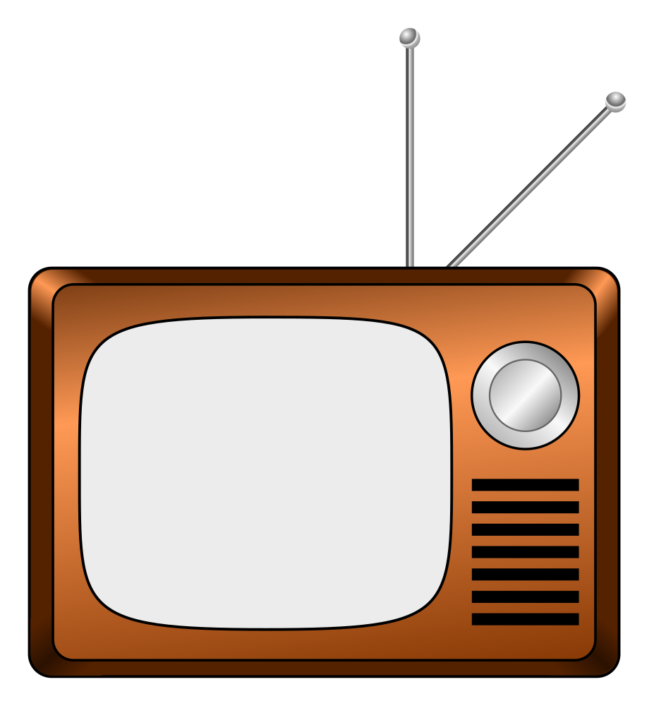 OnlineLabels Clip Art - Wooden TV