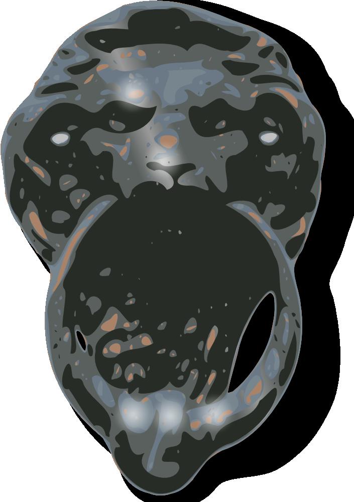 OnlineLabels Clip Art - Lion-Face Door Knocker