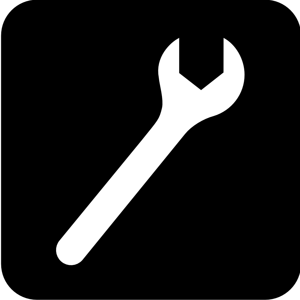 Onlinelabels clip art services icon wrench black for Logo drawing tool