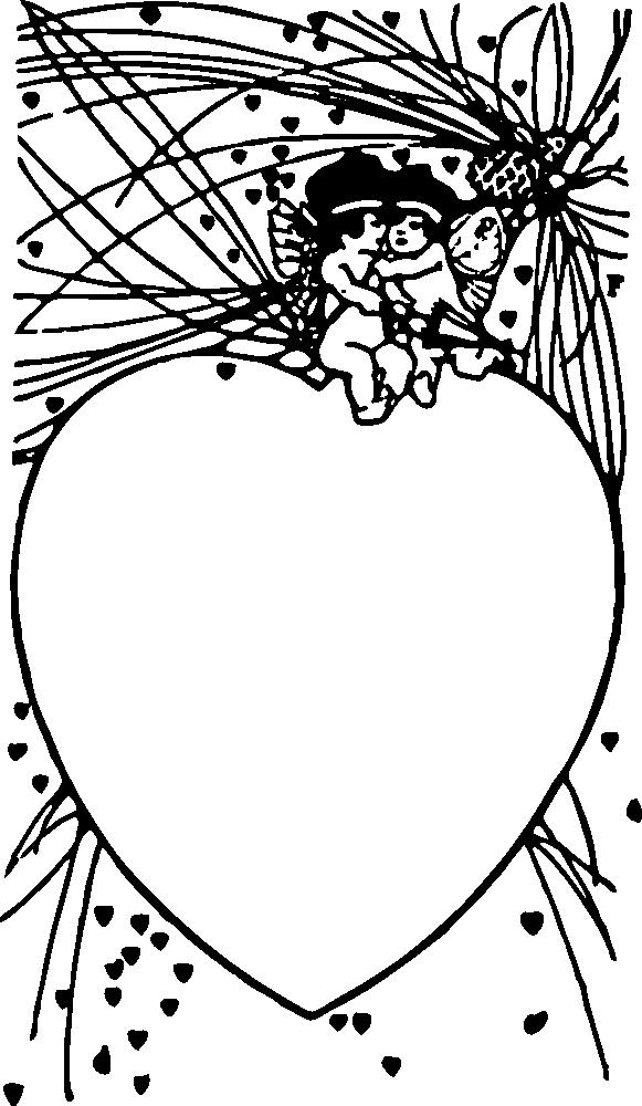 OnlineLabels Clip Art - Cupid Frame