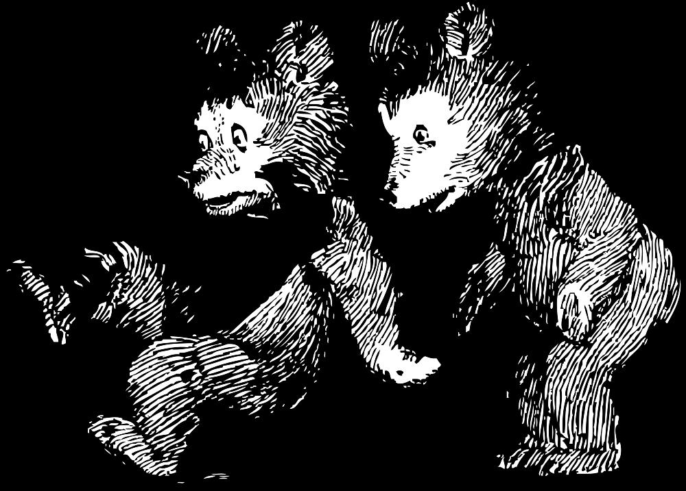 OnlineLabels Clip Art - Startled Bears