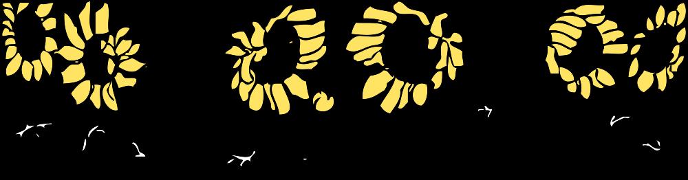 OnlineLabels Clip Art - Sunflower Border