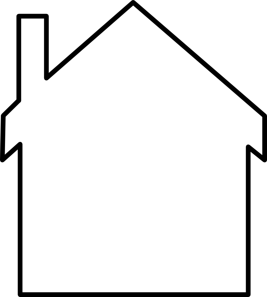 OnlineLabels Clip Art - House-Silhouette