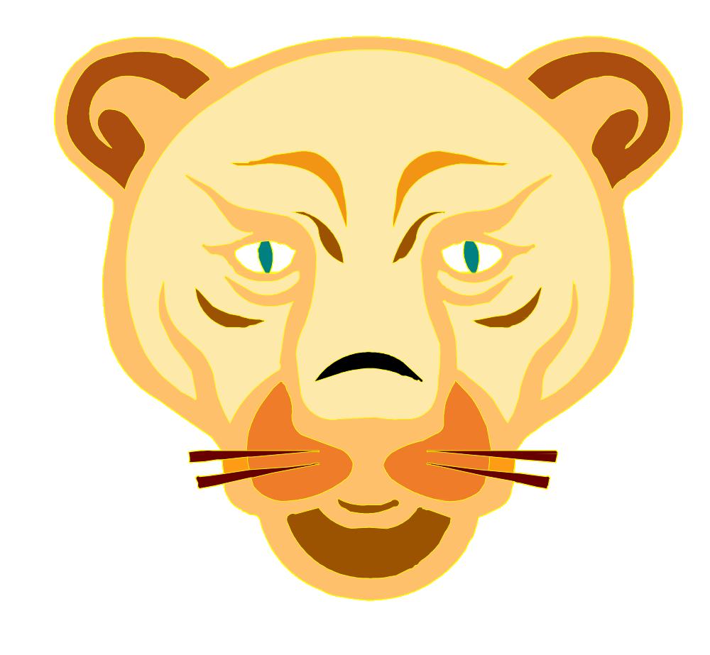 OnlineLabels Clip Art - Lion Face