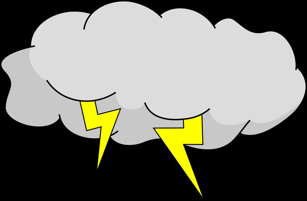 Blue cloud thunderbolt storm cartoon image Vector Image   Cartoon Storm