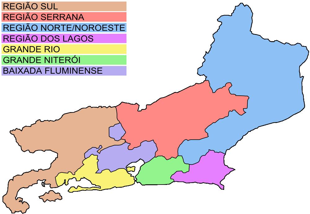 OnlineLabels Clip Art Map Of Rio De Janeiro - Rio de janeiro map