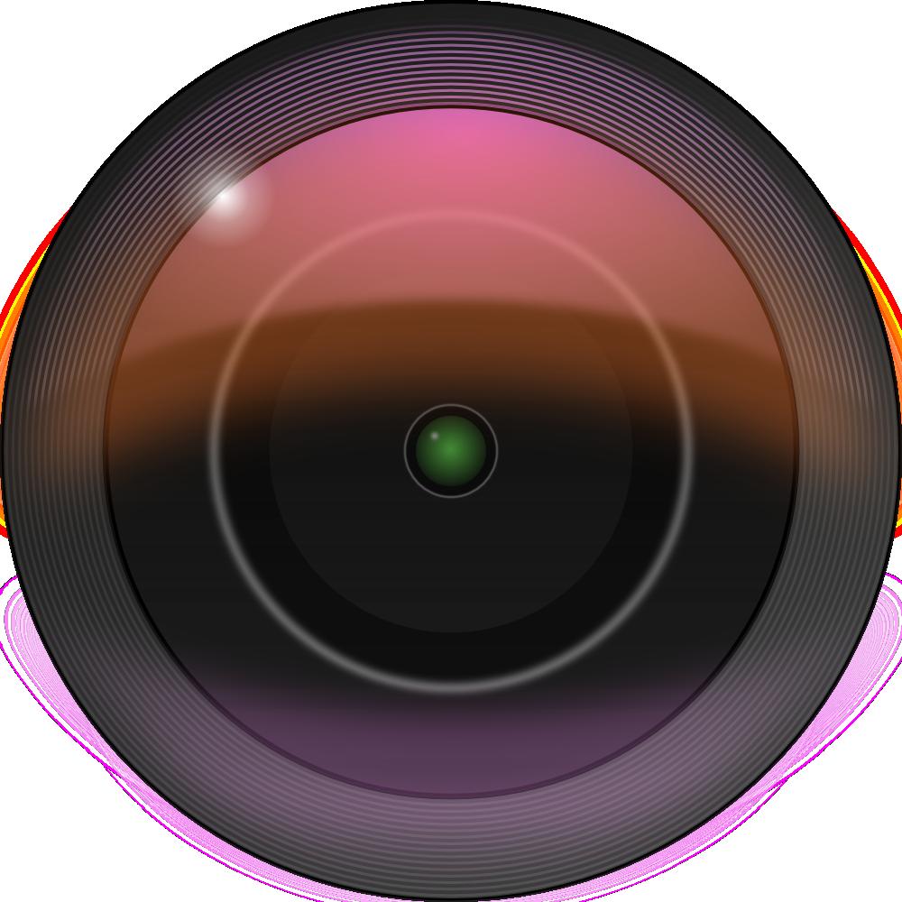 OnlineLabels Clip Art - Camera Lens