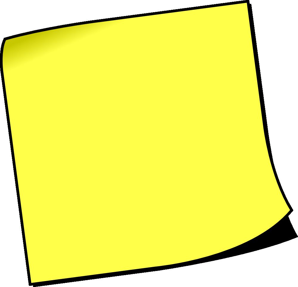 OnlineLabels Clip Art - Blank Sticky Note