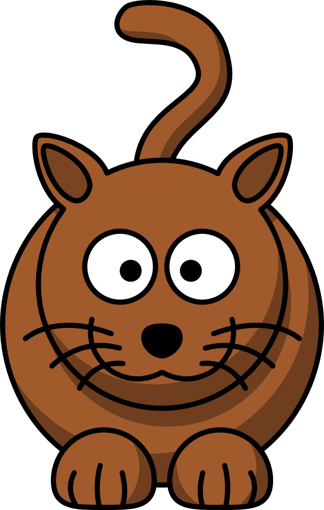 OnlineLabels Clip Art - Cartoon Cat