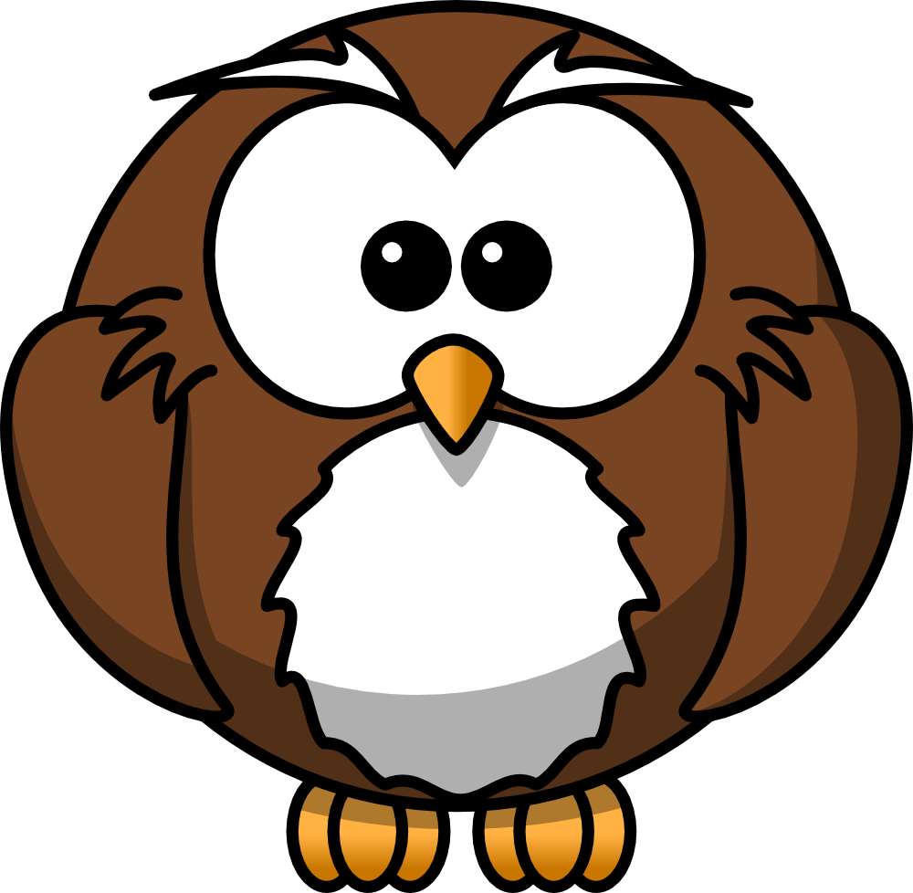 Onlinelabels clip art cartoon owl for A cartoon owl