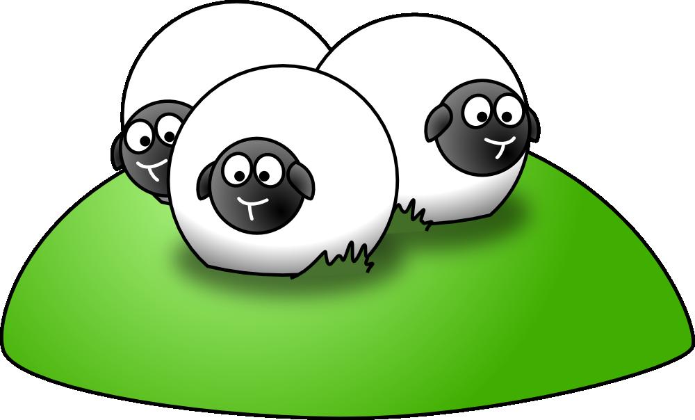 OnlineLabels Clip Art - Simple Cartoon Sheep
