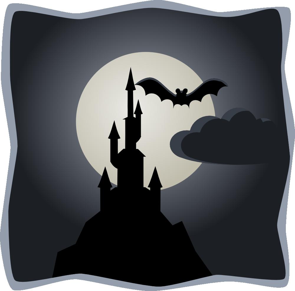 onlinelabels clip art spooky castle in full moon rh onlinelabels com Scary Moon Scary Moon Clip Art