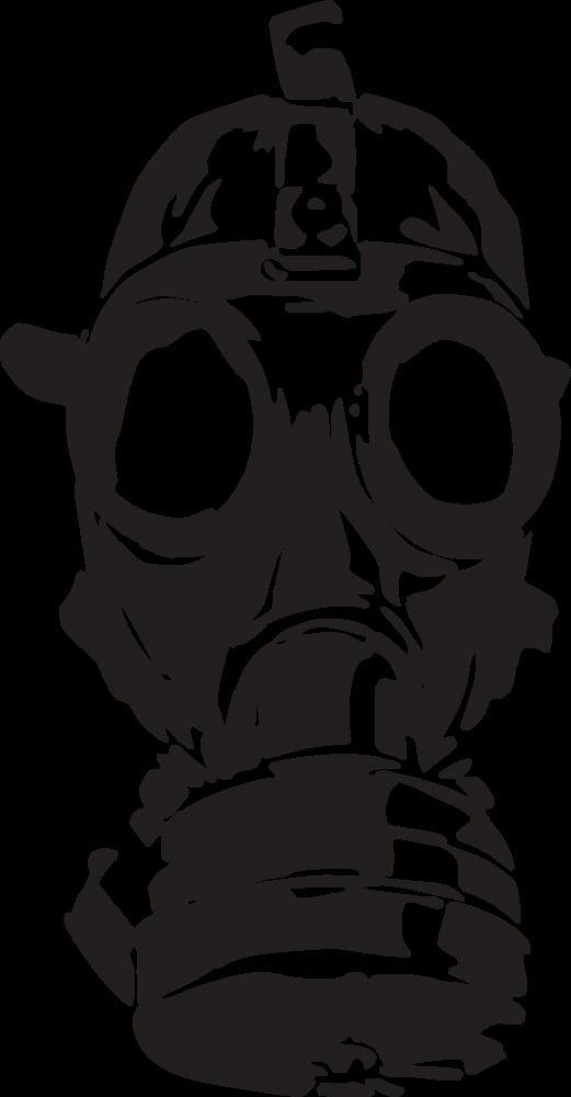 OnlineLabels Clip Art - Gas Mask
