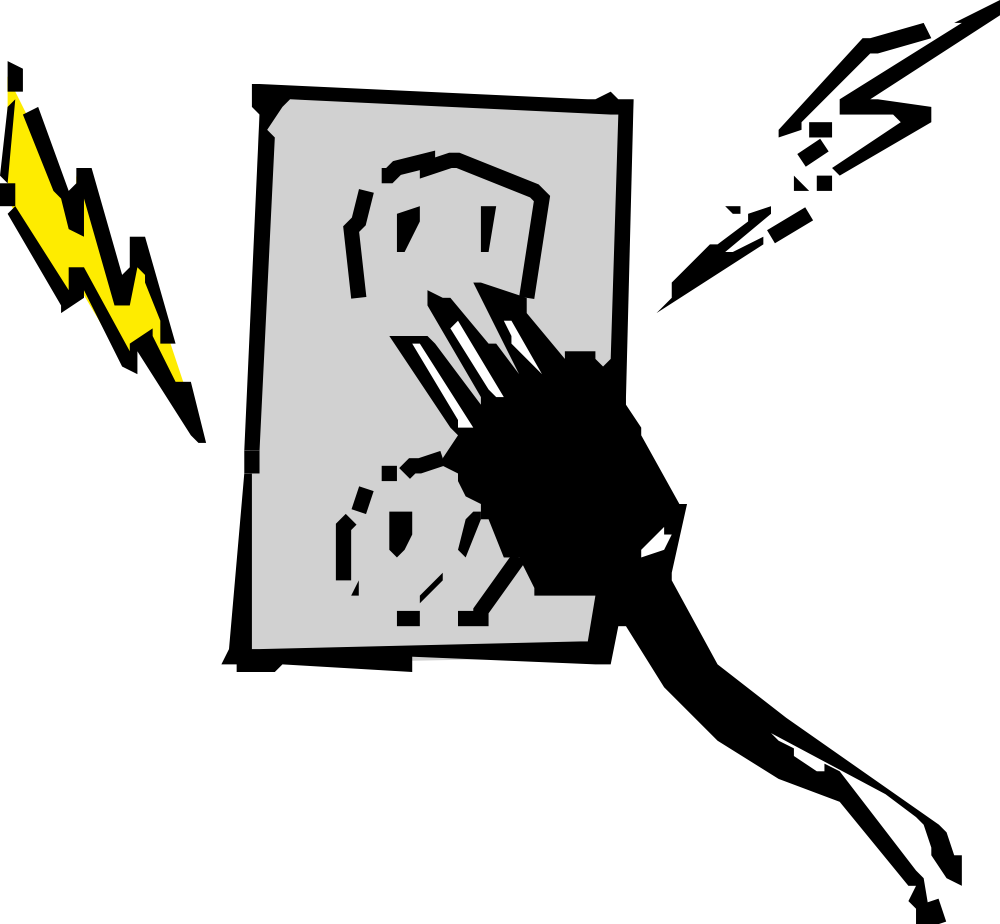 Onlinelabels Clip Art - Electrical Outlet And Plug-9250