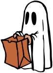 Ghost with bag (colour)