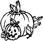 Pumpkins (black and white)