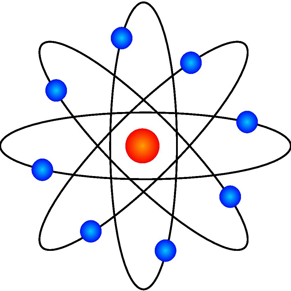 Physics Clip Art Free Onlinelabels clip art - atom