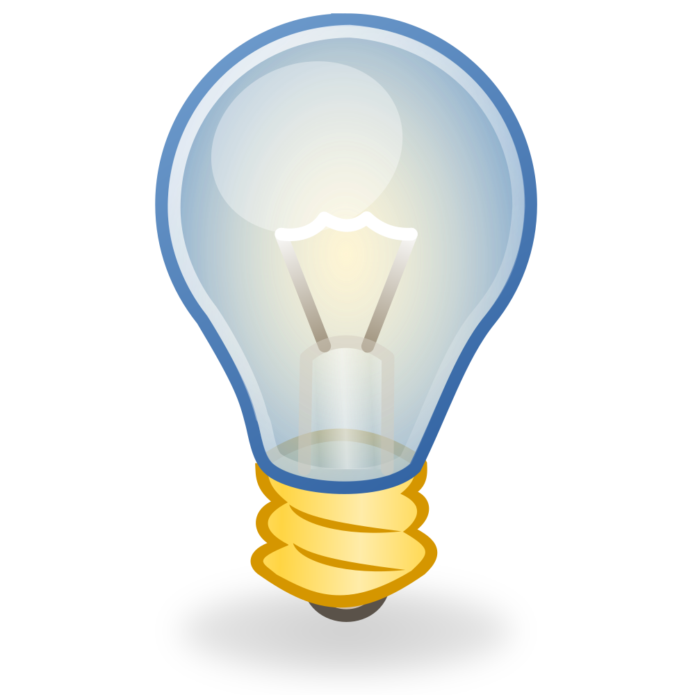 OnlineLabels Clip Art - Light Bulb Icon