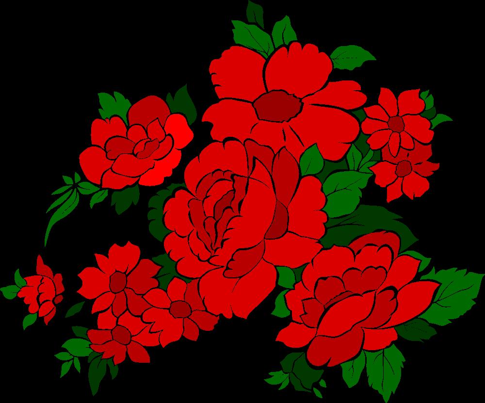 vintage flowers rose 4