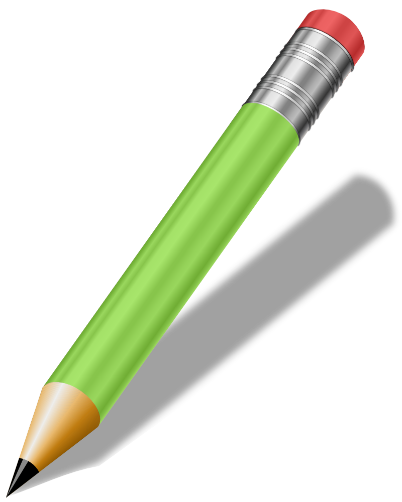 OnlineLabels Clip Art - Short Realistic Pencil