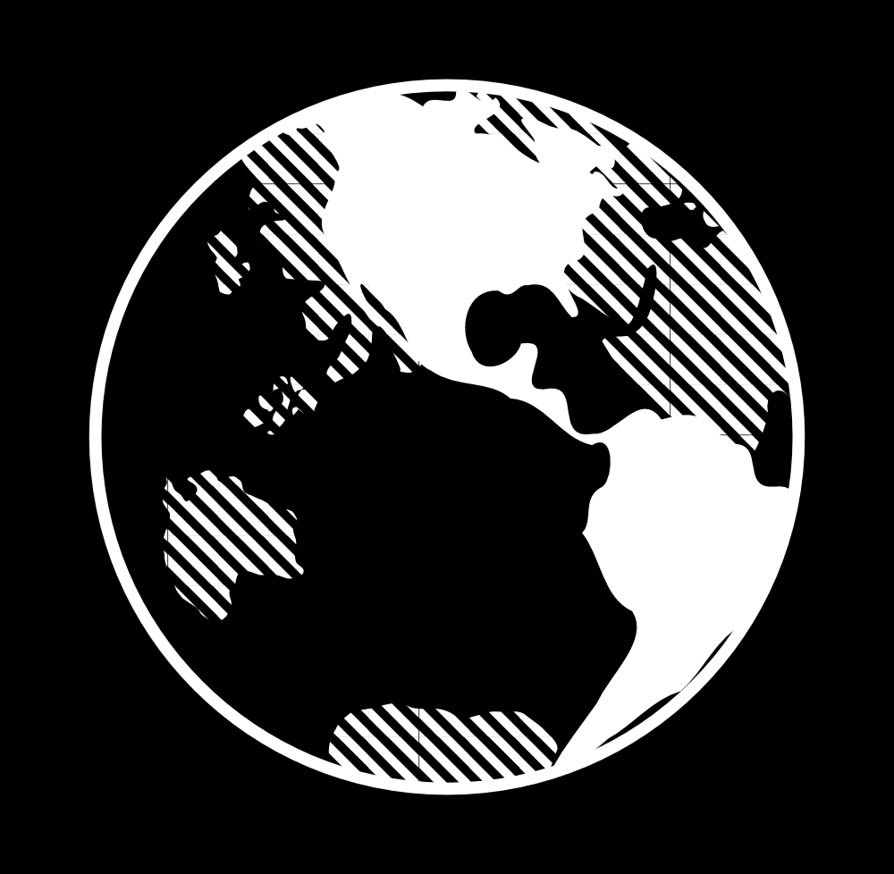 planet earth clipart black and white - photo #31