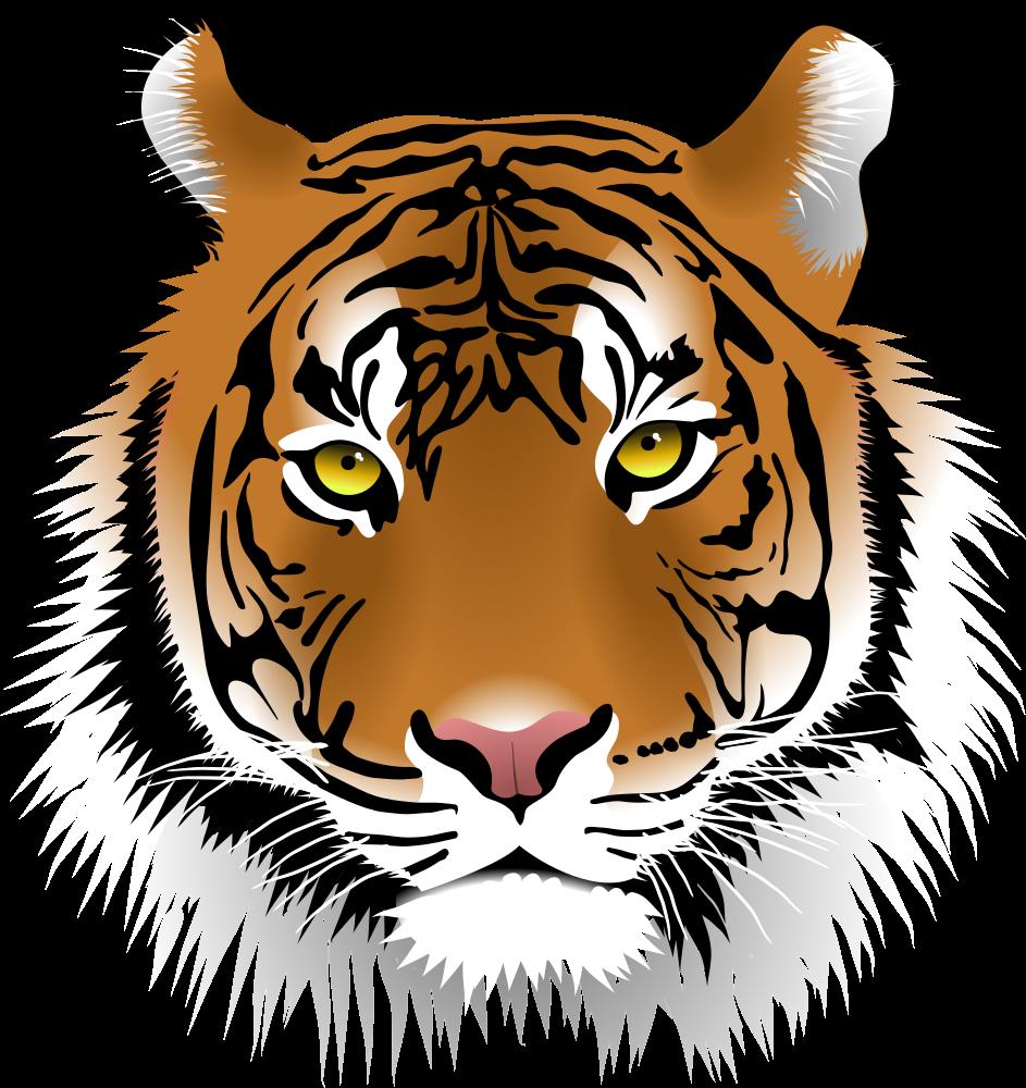 OnlineLabels Clip Art - Tiger Face