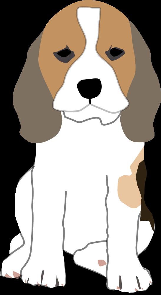 OnlineLabels Clip Art - Beagle Puppy