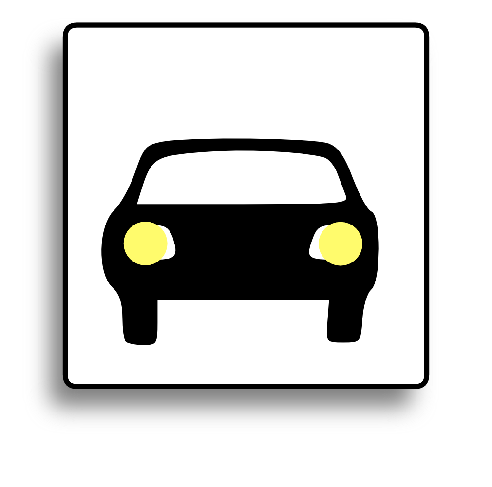 onlinelabels clip art car icon for use with signs or buttons. Black Bedroom Furniture Sets. Home Design Ideas