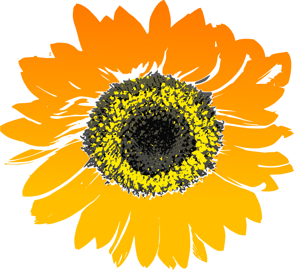 OnlineLabels Clip Art - Sunflower