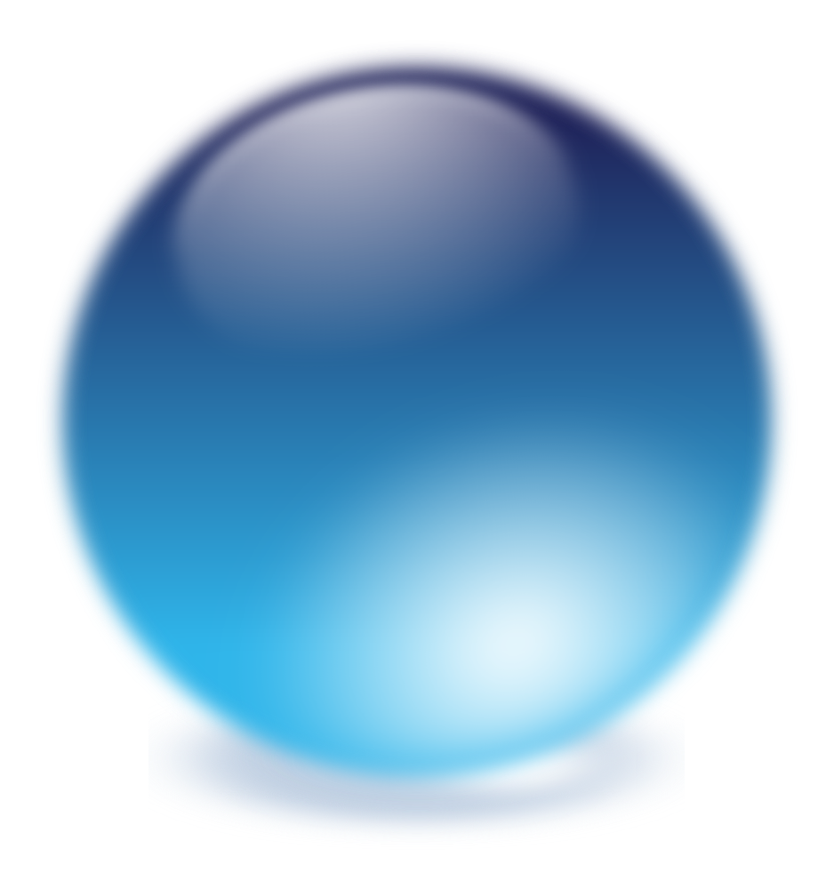 OnlineLabels Clip Art - Blue Cristal Ball
