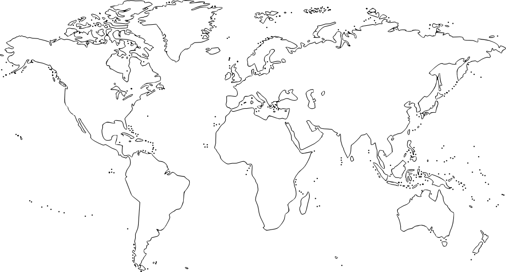 OnlineLabels Clip Art - World Map