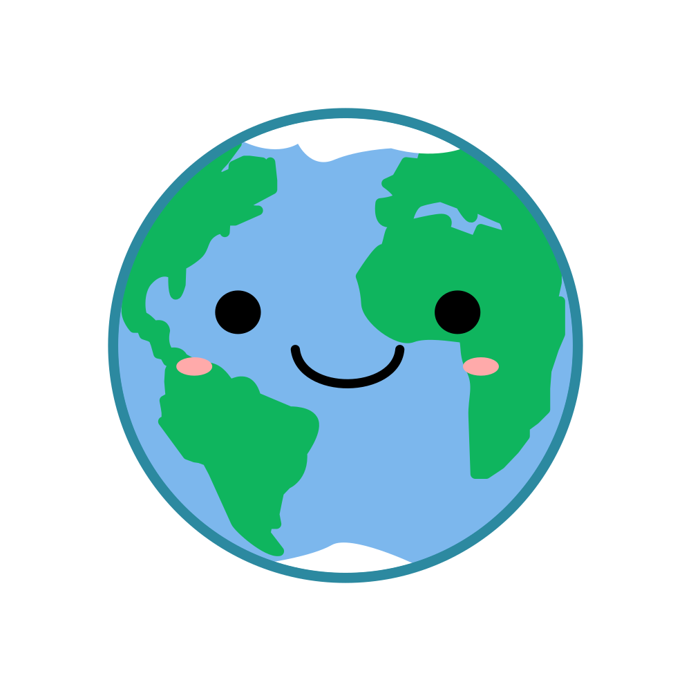 Onlinelabels Clip Art Kawaii Earth