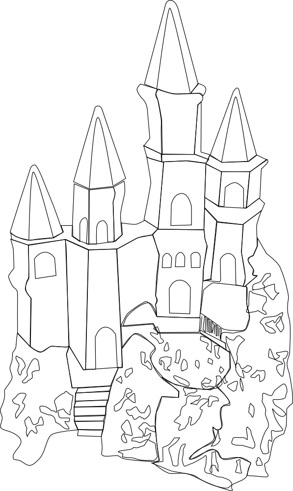 Kleurplaat Printer Onlinelabels Clip Art Castle Outline